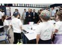 Shimon Peres at Efrata School in Herusalem